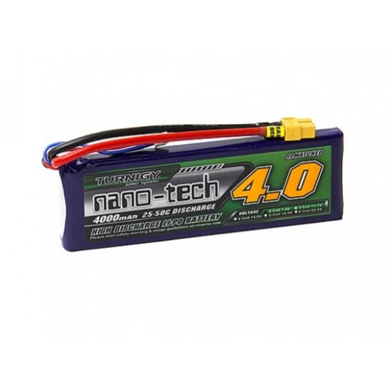 Turnigy nano-tech 4000mah 2S 25~50C Lipo Pack w/XT-60